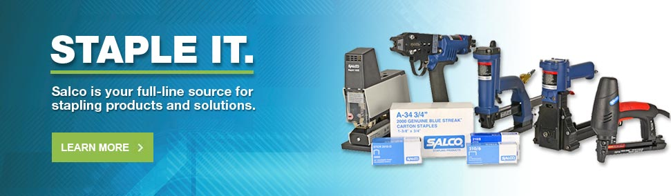 Salco is your full-line source for staplers and staples