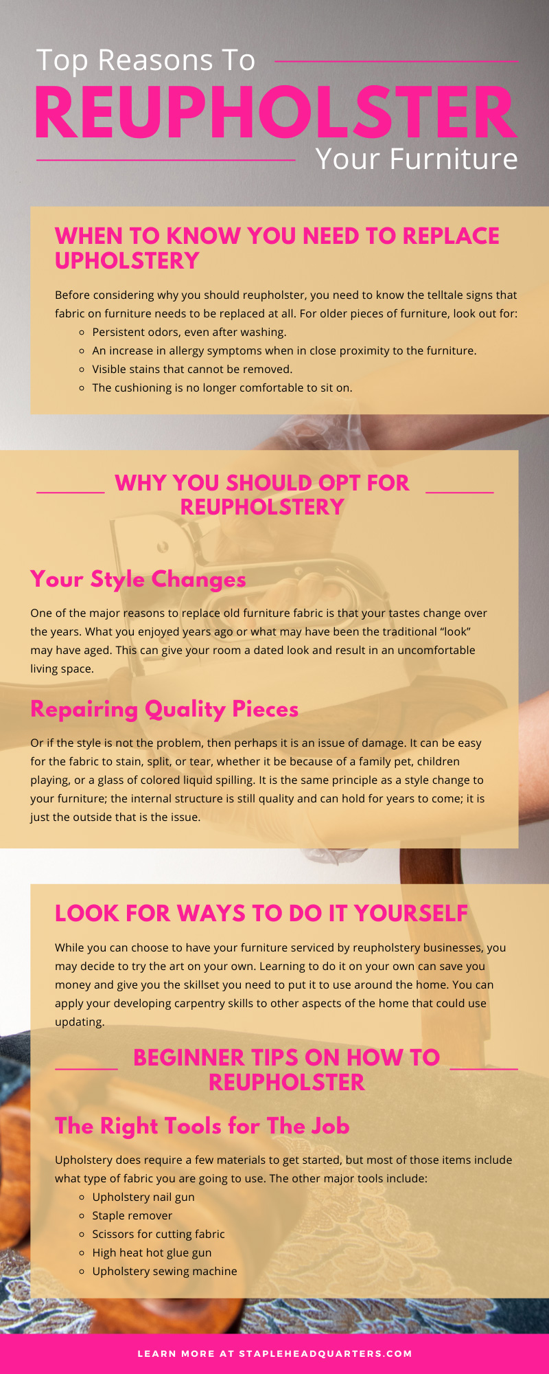 Top Reasons To Reupholster Your Furniture